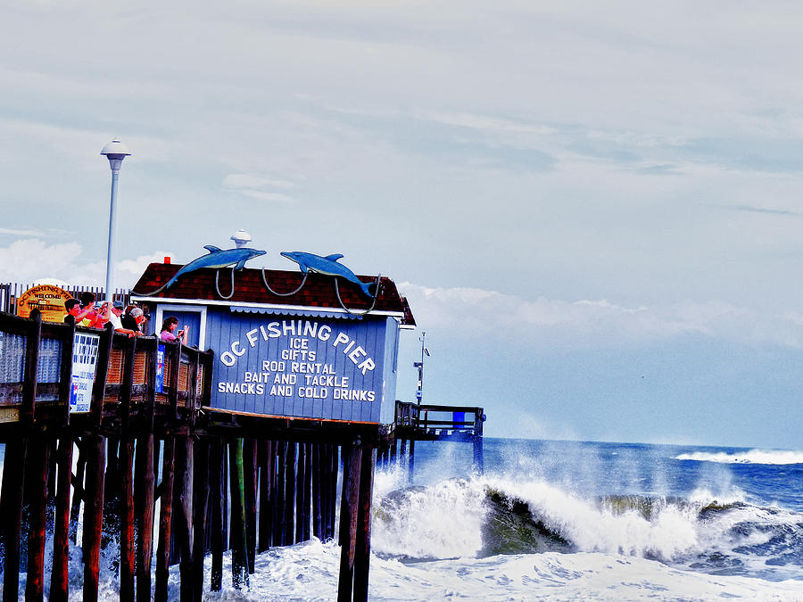 Pier Photograph - The Leaning Pier by Kelly Reber