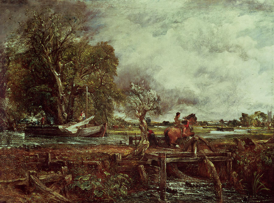 The Painting - The Leaping Horse by John Constable