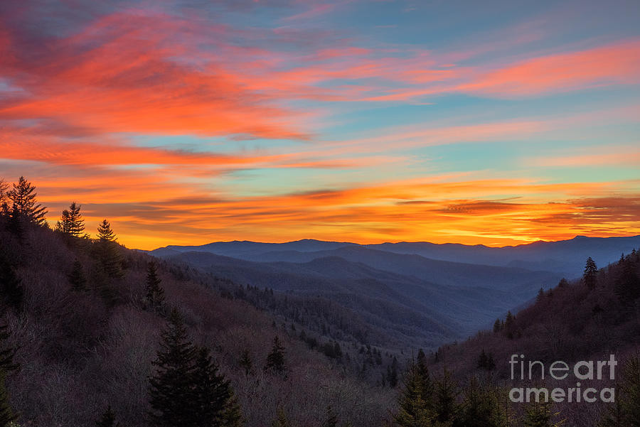 Great Smoky Mountains Photograph - The Leaves Are Gone But The Beauty Is There. by Itai Minovitz