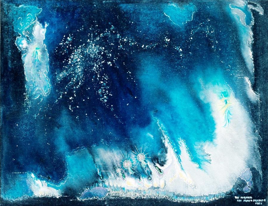 Spiritual Painting - The Leaving by Lee Pantas