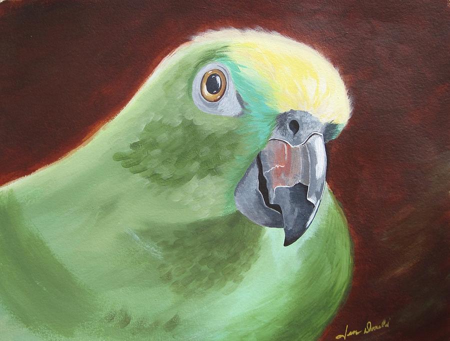 Bird Painting - Chilli by Jennifer  Donald