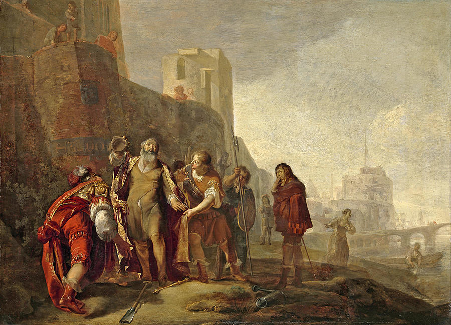 walls painting the legates of alexander the great investing the gardener abdalonymus with the insignia