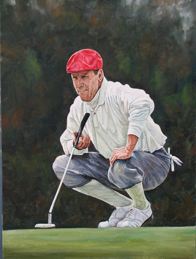Golf Painting - The Legend by Jason  Swain