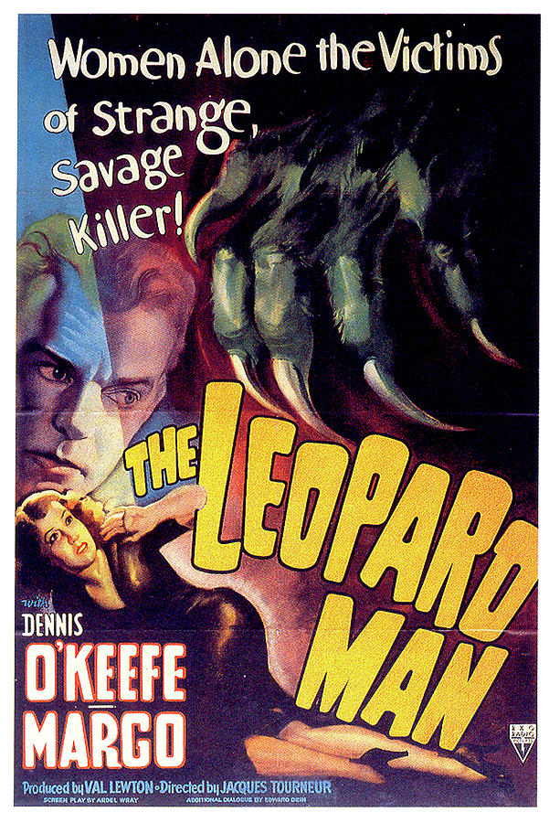 Vintage Digital Art - The Leopard Man by Movieworld Posters