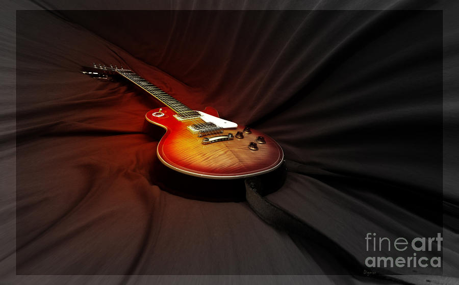 Guitar Photograph - The Les Paul by Steven Digman