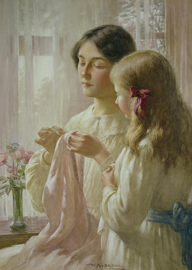 The Painting - The Lesson by William Kay Blacklock