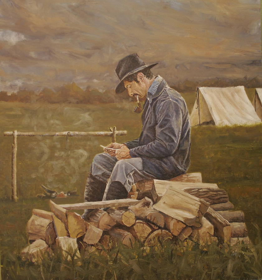 History Painting - The Letter by Jason  Swain
