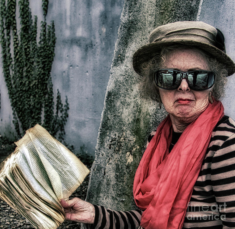 Surreal Photograph - The Librarian  by Steven Digman