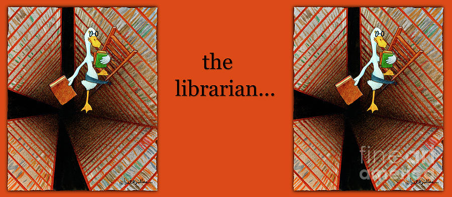 Will Bullas Painting - The Librarian... by Will Bullas