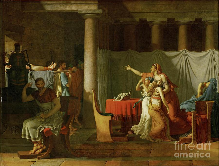 The Lictors Bring To Brutus The Bodies Of His Sons Painting by Celestial Images