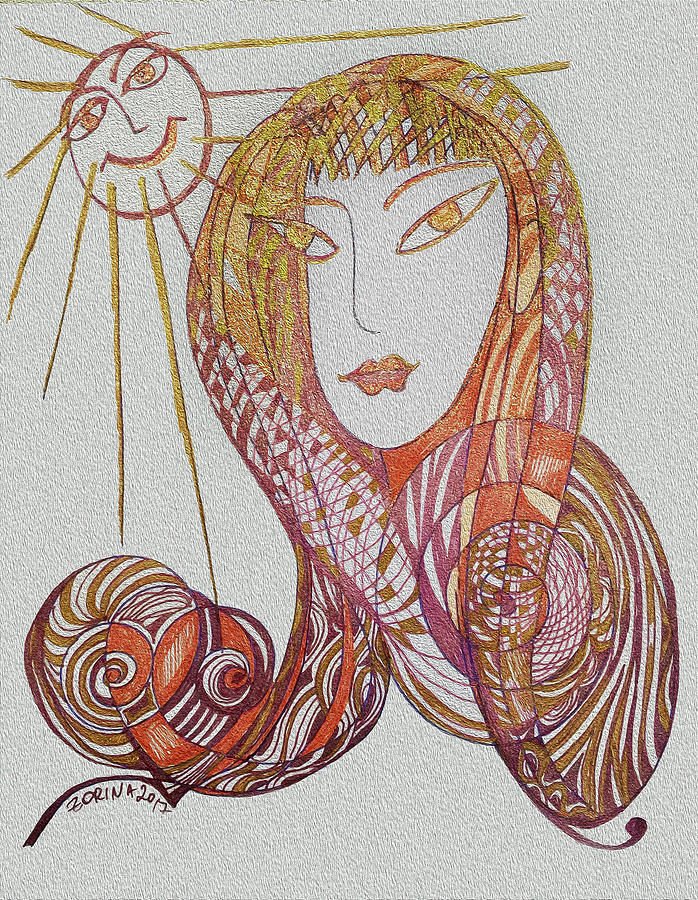 Sun Drawing - The Life by Zorina Kunkina