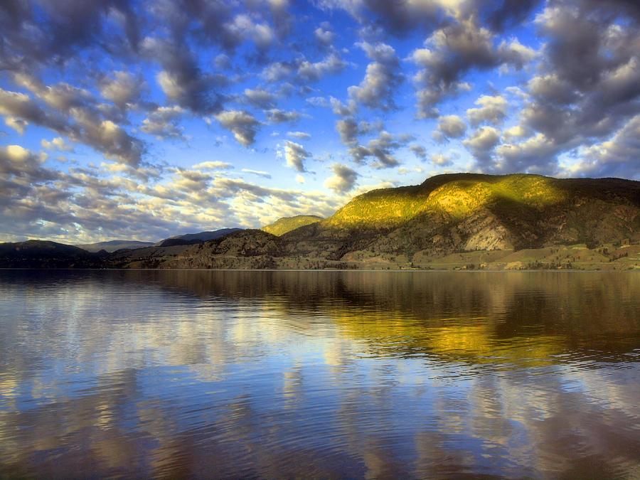 Light Photograph - The Light At Skaha Lake by Tara Turner