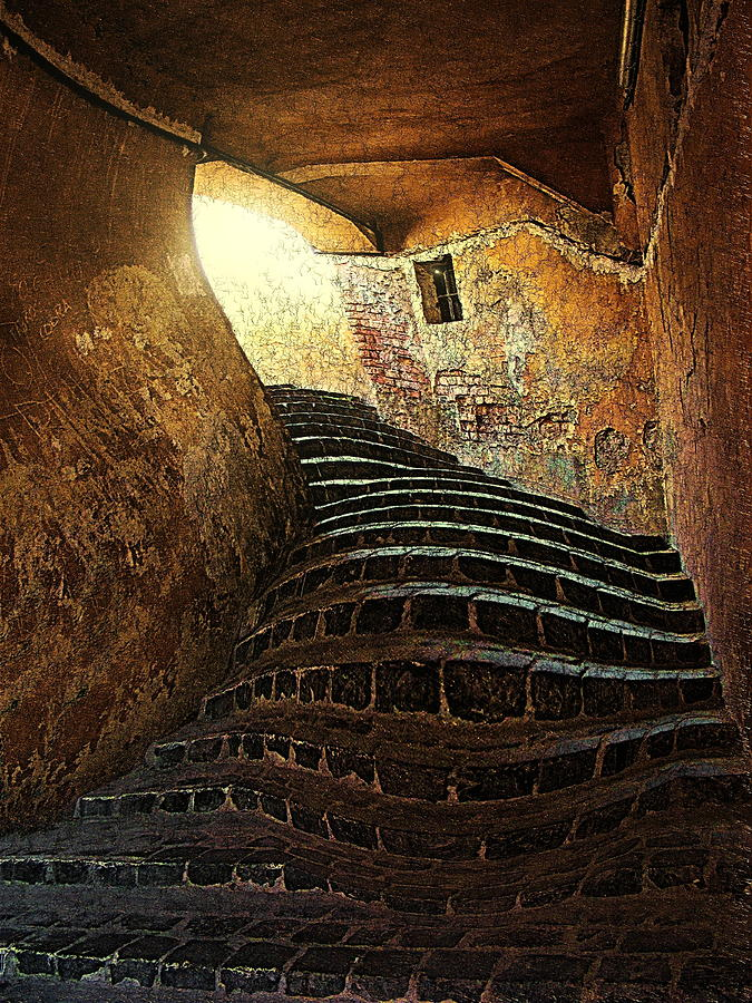 Stairs Photograph - The Light At The End Of The Tunel by Lucian Badea