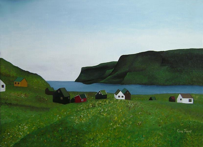 Faroe Islands Painting - The Light by Claus Thuroe