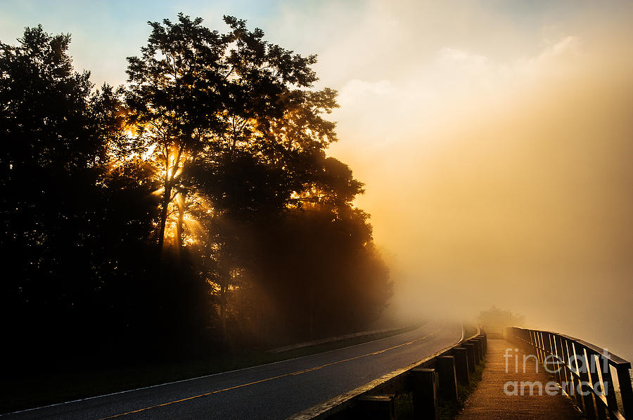 Blue Ridge Parkway Photograph - The Light. by Itai Minovitz