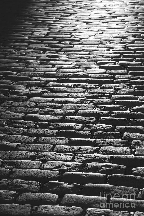 Stone Pavement Photograph - The Light On The Stone Pavement by Hideaki Sakurai