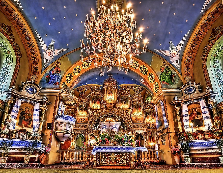 Church Photograph - The Light Within by Evelina Kremsdorf