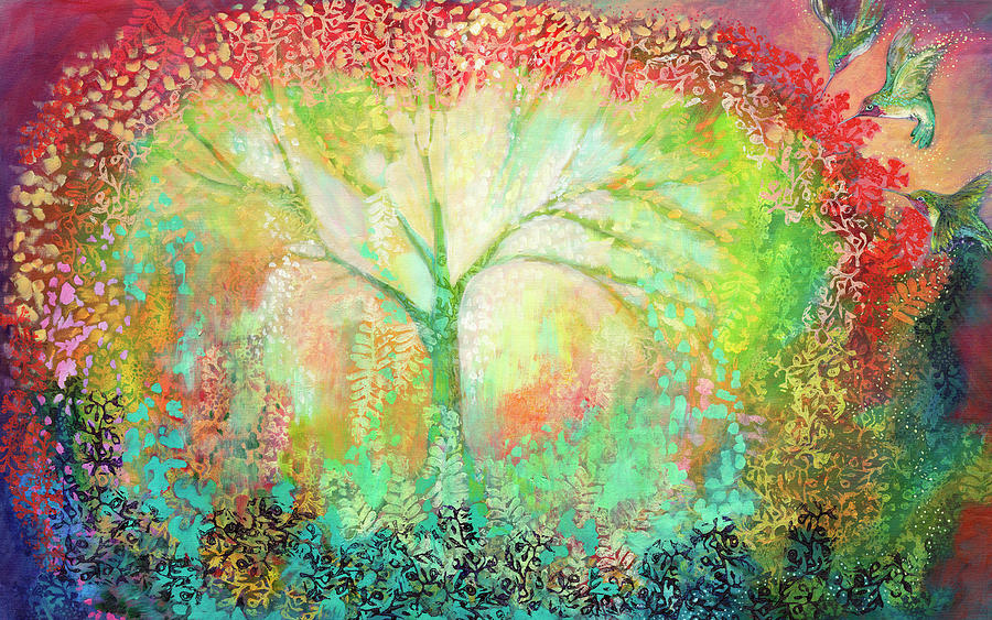 Tree Painting - The Light Within by Jennifer Lommers