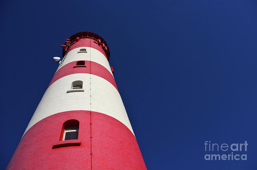 Germany Photograph - The Lighthouse Amrum by Angela Doelling AD DESIGN Photo and PhotoArt