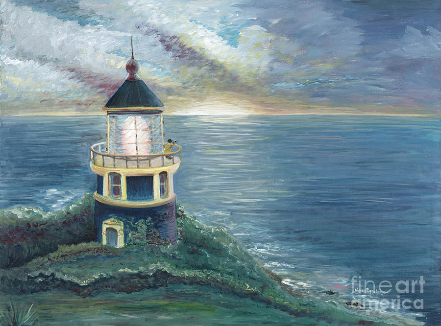 Lighthouse Painting - The Lighthouse by Nadine Rippelmeyer