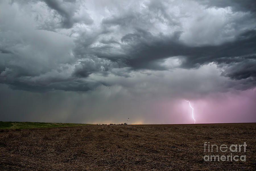 Storm Photograph - The lightning and the elevator by Francis Lavigne-Theriault