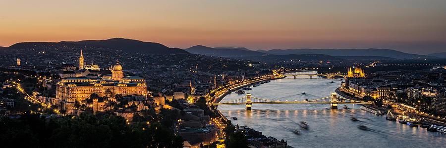 Bridges Photograph - The Lights Of Budapest by Thomas D Morkeberg