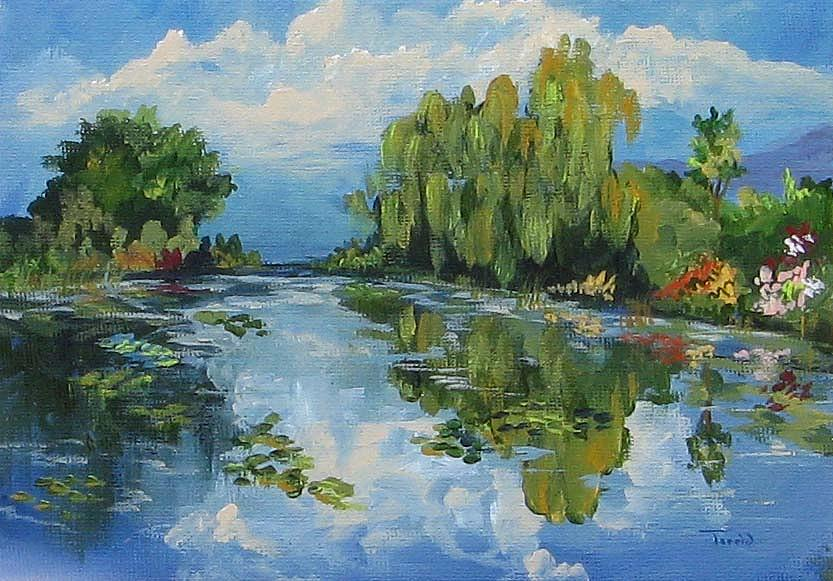 Lily Pond Painting - The Lily Pond At Giverny  by Torrie Smiley
