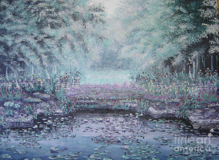 Landscape Painting - The Lily Pond by Cynthia Sorensen