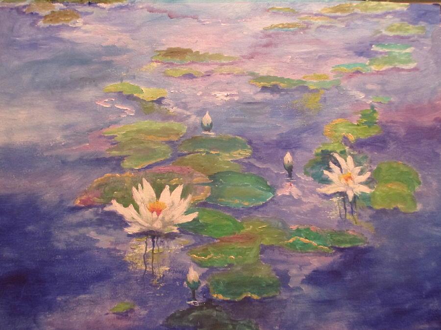 Lily Pond Painting - The Lily Pond by Sandra Golkowski