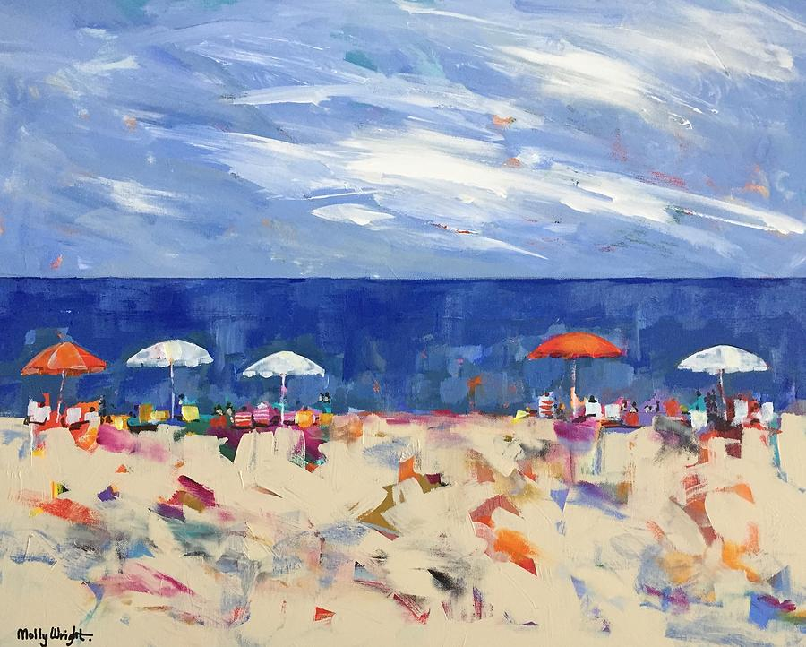 Ocean Painting - The Line Up by Molly Wright