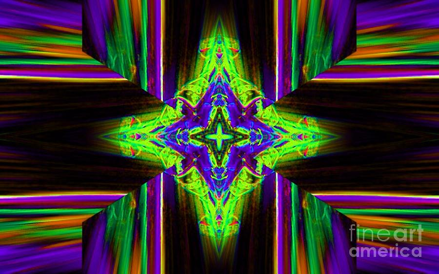 Abstract Digital Art - The Green Lantern by Lorles Lifestyles