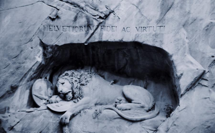 Lion Of Lucerne Photograph - The Lion Of Lucerne by Dan Sproul