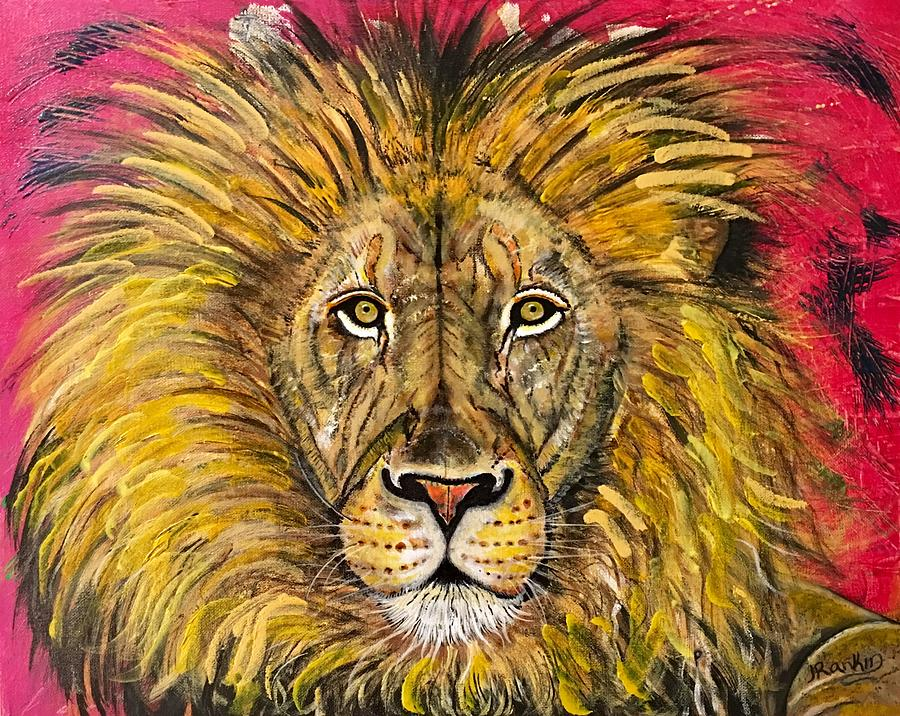 Lions Face Painting - The Lions Selfie by John Rankin