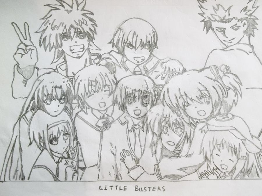 Drawings Photograph - The Little Busters Animation Series by Darren Moore