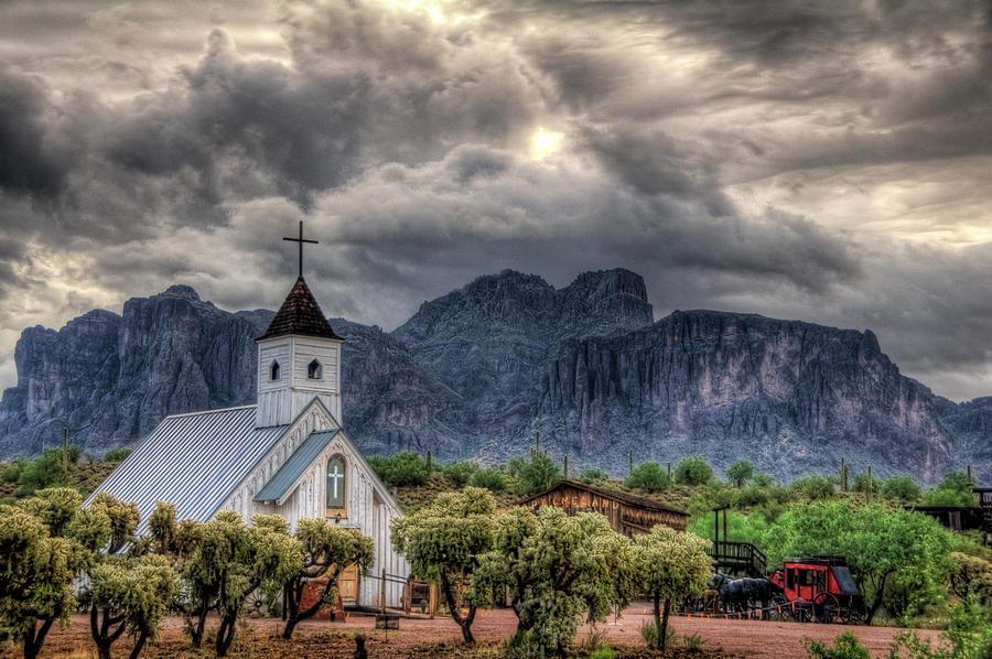 Arizona Photograph - The Little Church  by Saija  Lehtonen