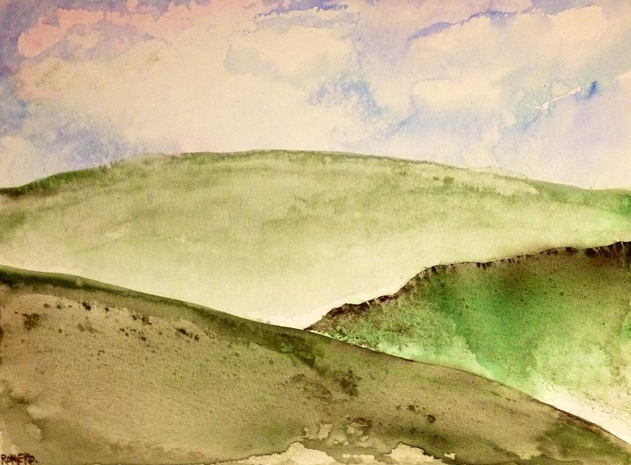 Landscape Painting - The Little Hills Rejoice by Antonio Romero