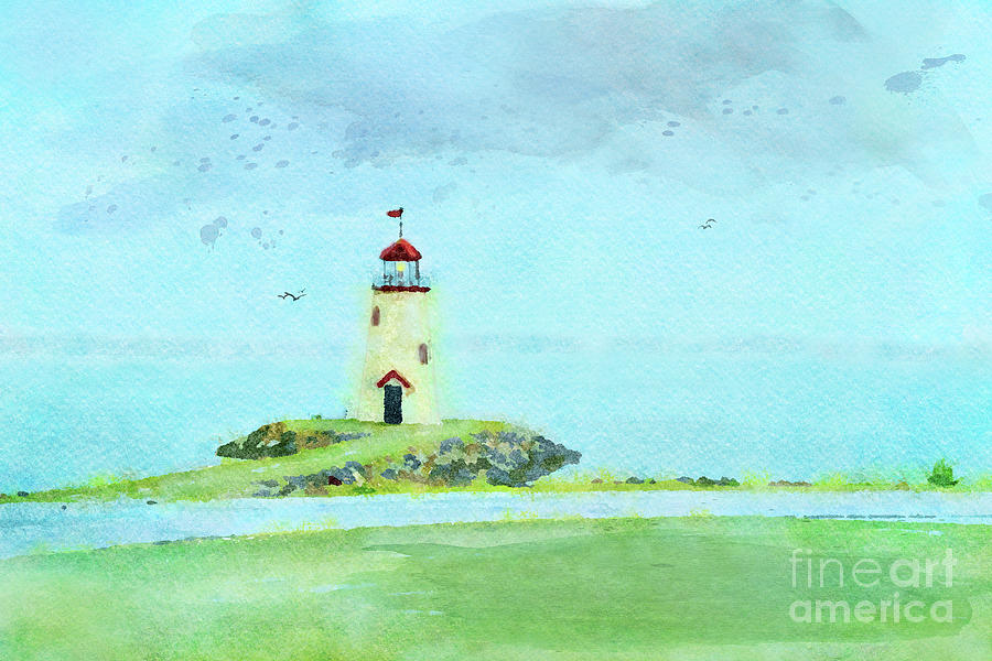 The Little Lighthouse That Could Digital Art