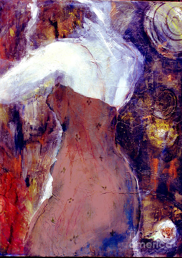 Woman In Red Dress Mixed Media - The Little Mermaid by Marcy  Orendorff