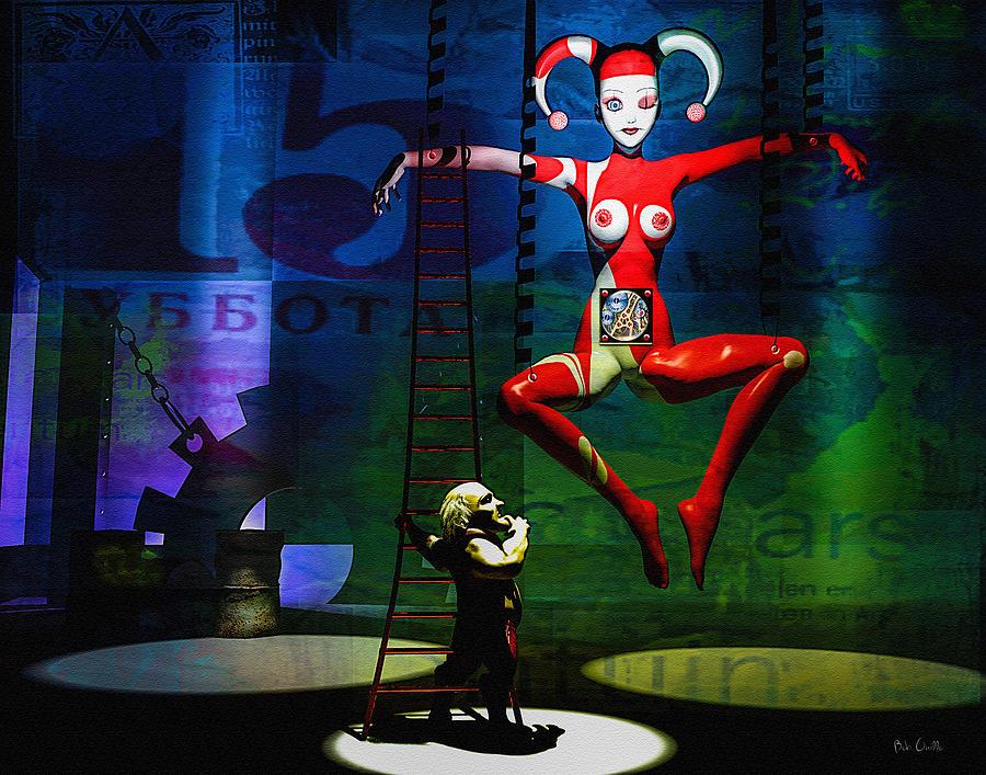 Joker Painting - The Little Puppet Master by Bob Orsillo