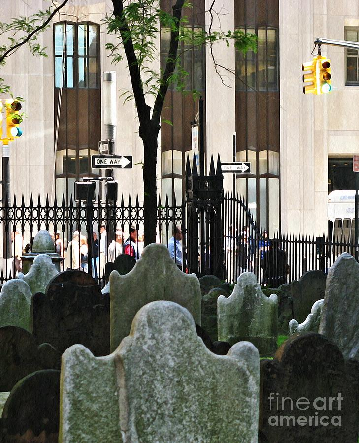 Manhattan Photograph - The Living And The Dead by Sarah Loft