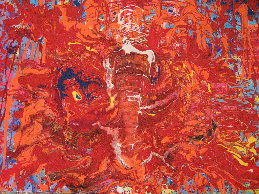 The Lobster God Is Angry And Wants To Get Even Painting by Jeffrey Morrison