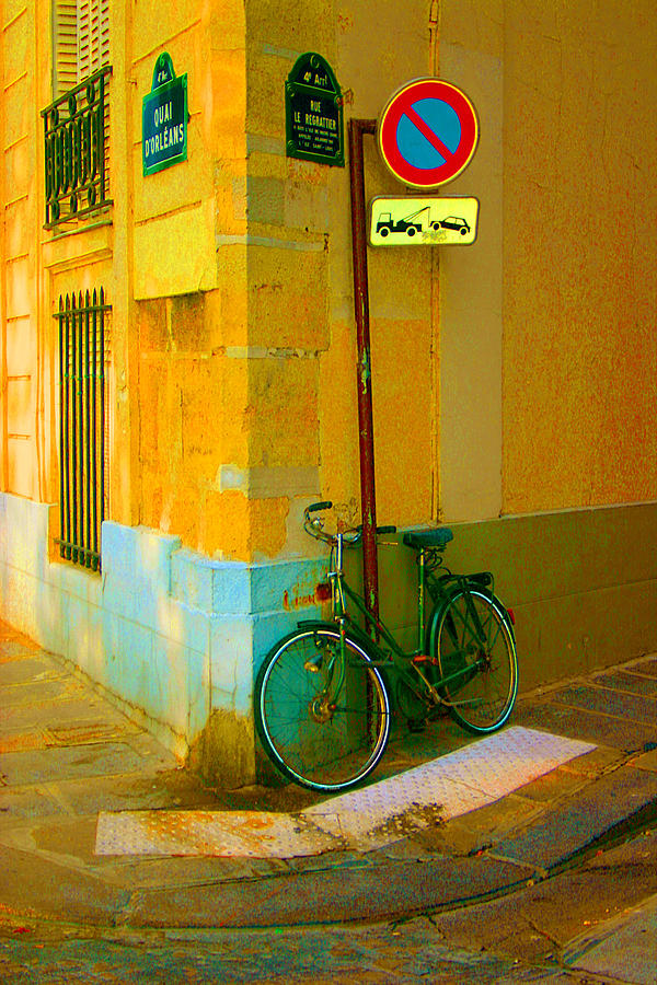 Bike Photograph - The Locked Bike by Dennis Curry