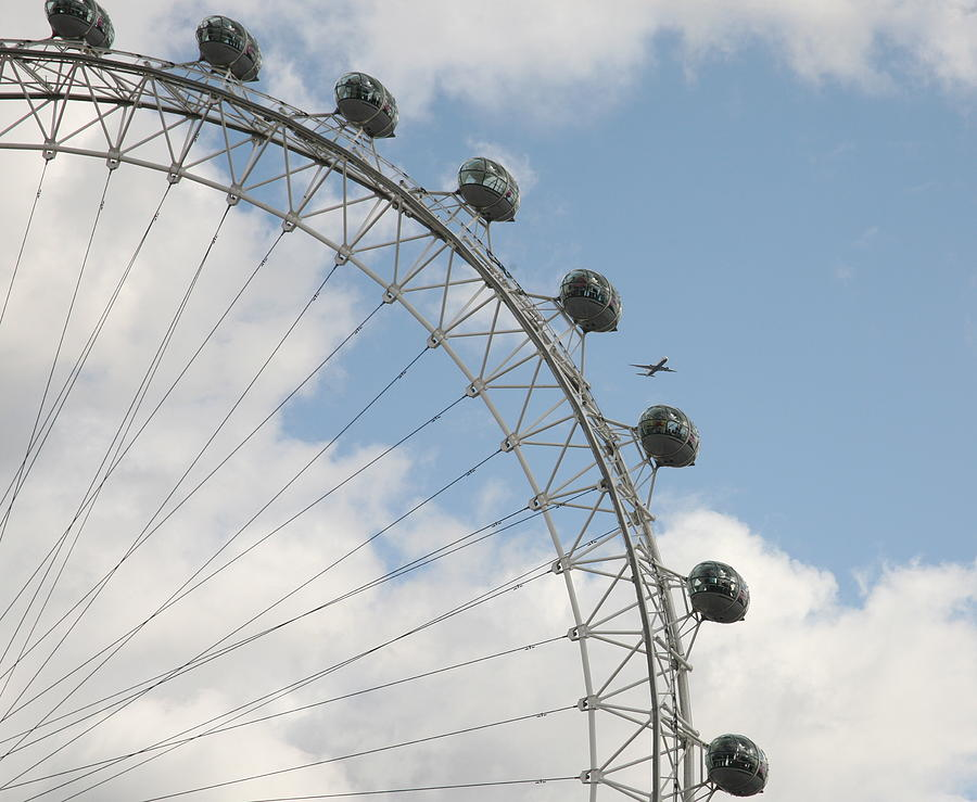 Ferris Photograph - The London Eye by Christopher Rowlands