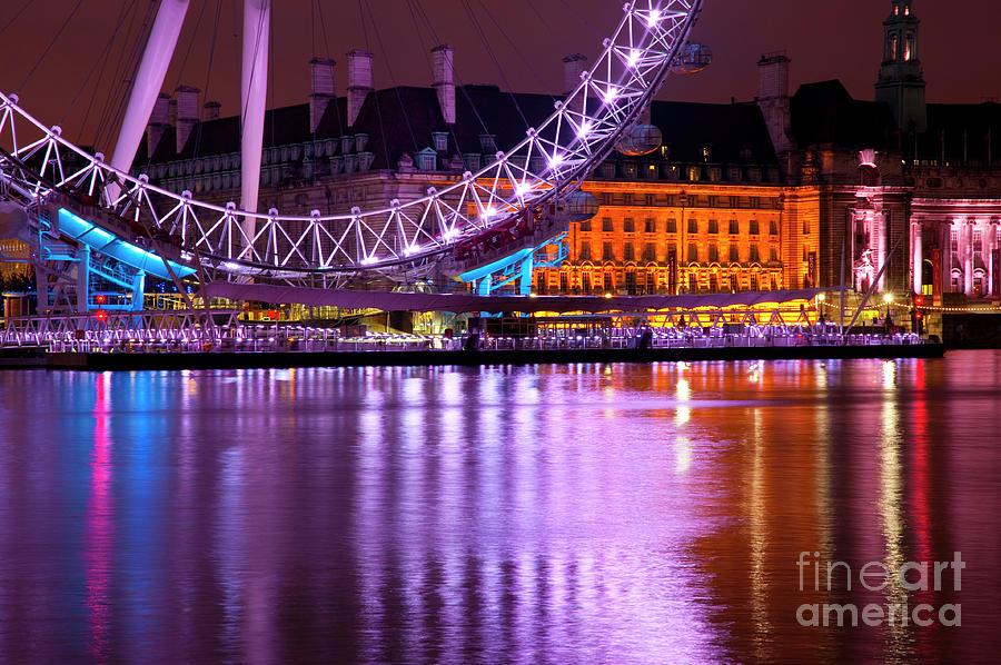 Big Ben Photograph - The London Eye by Donald Davis