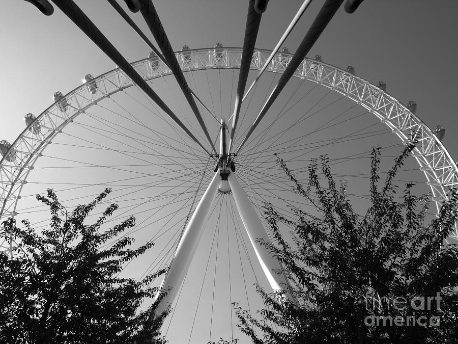 The London Eye  monotone by Jeffrey Peterson