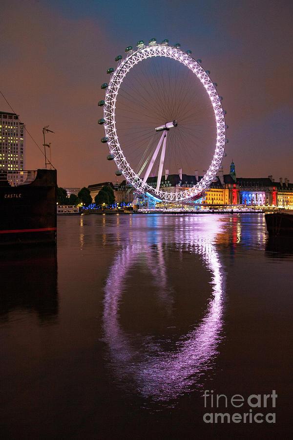 London Eye Photograph - The London Eye by Smart Aviation