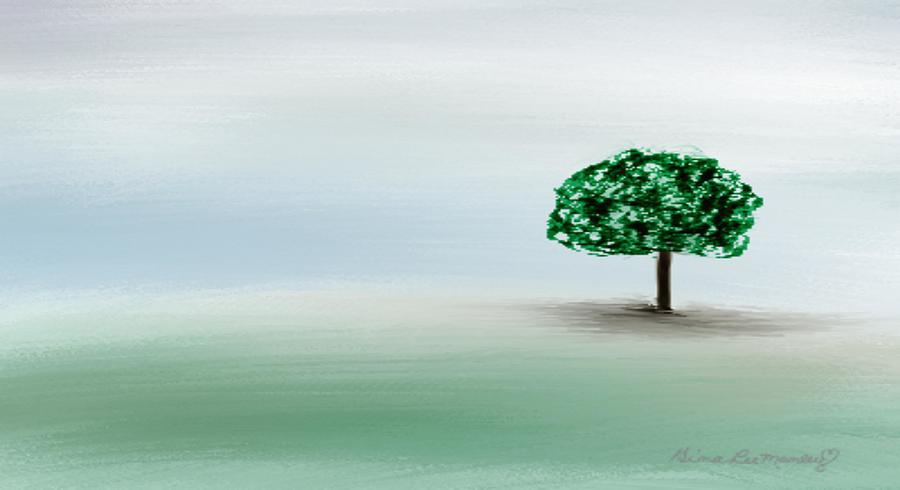 Custom Painting - The Lone Tree by Gina Lee Manley