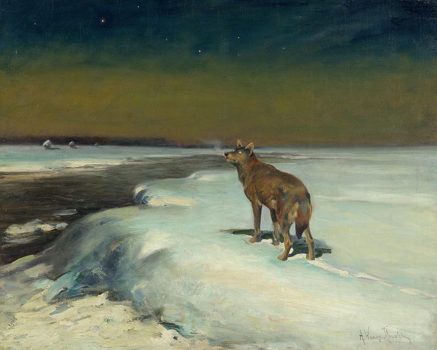 The Lone Wolf By Alfred Wierusz Kowalski 2