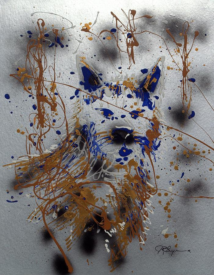Wolf Mixed Media - The Lone Wolf  Canis Lupus by J R Seymour