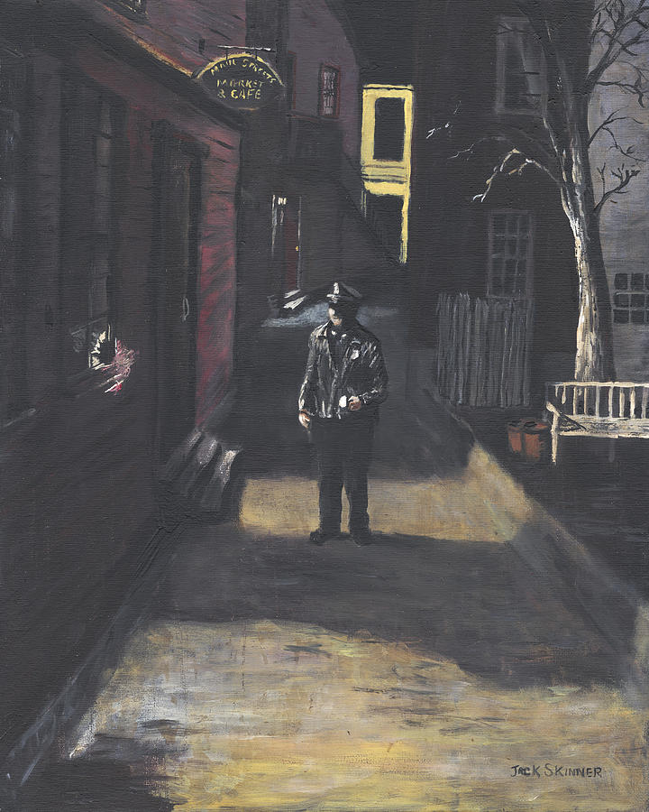 Police Officer Painting - The Lonely Beat by Jack Skinner